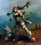 post apocaliptic tribal warrior