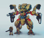 Infantry support mech