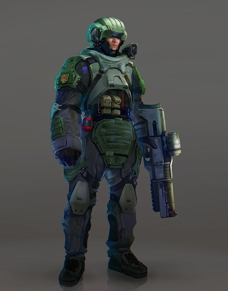 soldier by inzvy
