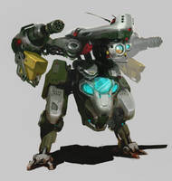 A military mech by inzvy