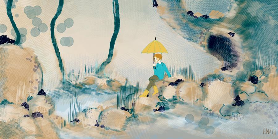 rain by hazumonster
