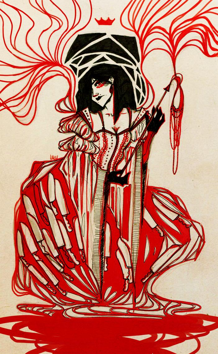 the queen of hearts by hazumonster