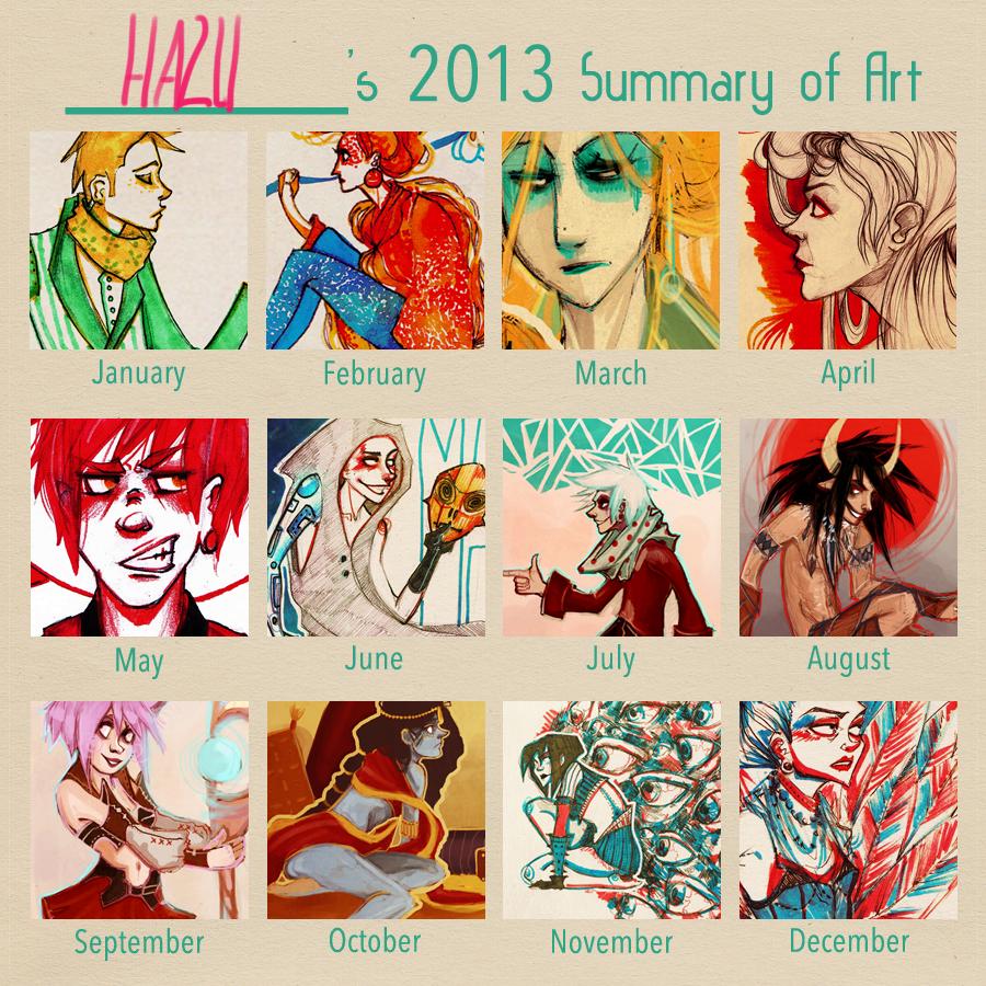 2013 art summary by hazumonster