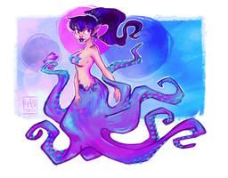 octopus by hazumonster