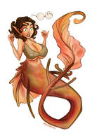 mermaid comm 03 by hazumonster