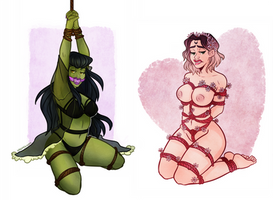 bondage girls by hazumonster