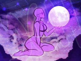 [YCH] Moon goddess ych [3 slots] by hazumonster