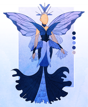 [OPEN] Outfit Adopt [#15] [butterfly gown]