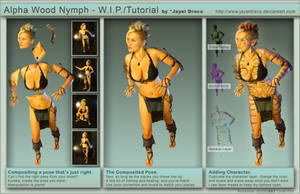 Alpha Wood Nymph - WIP + Tut. by JayelDraco