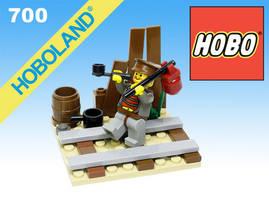 LEGO HOBO by gloriouskyle