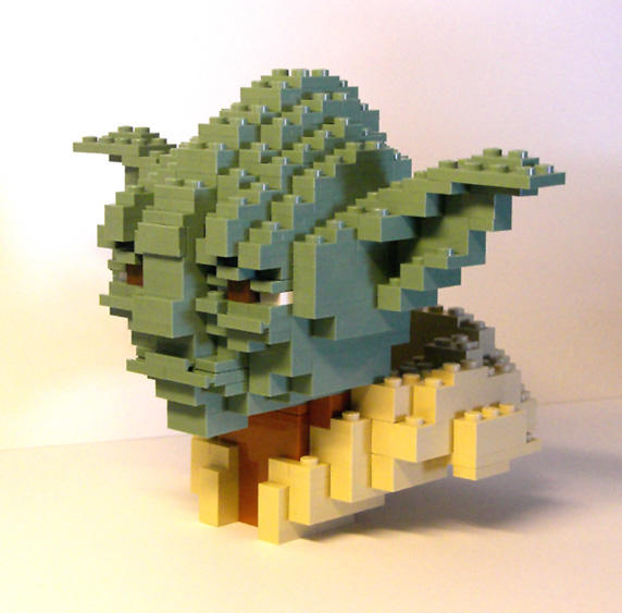 LEGO Yoda Bust by gloriouskyle