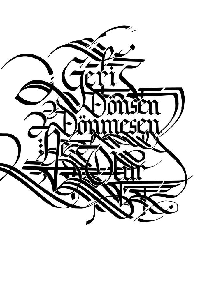 Calligraphy work by mdesignn on deviantart