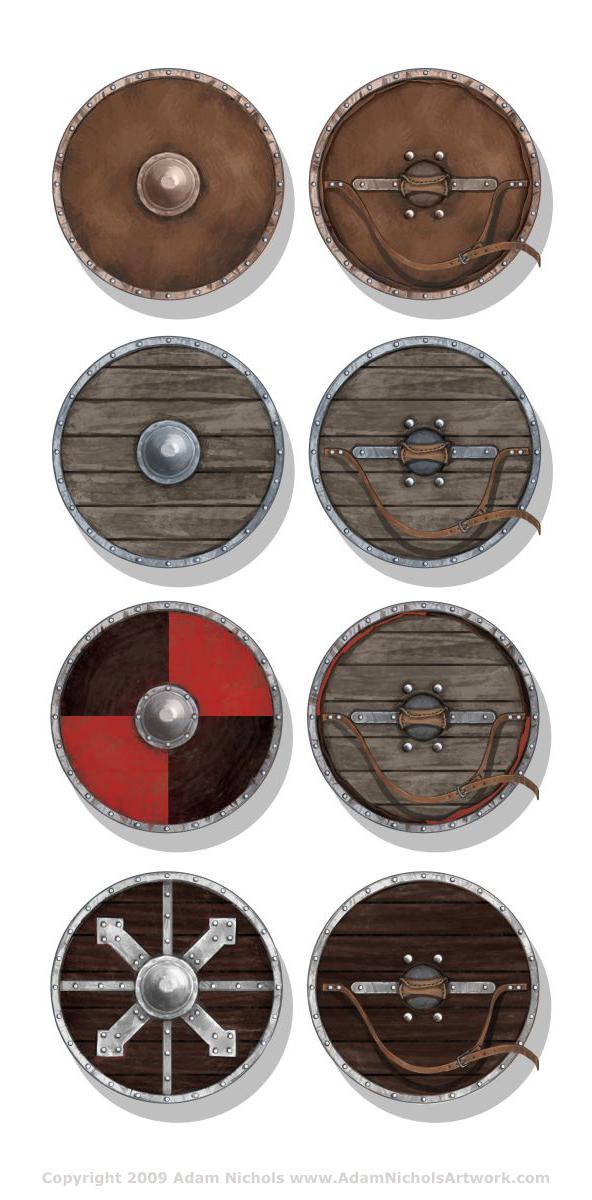 Viking Shields by Autaux