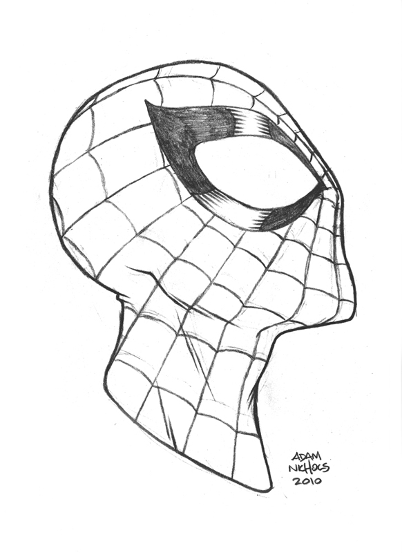 Spiderman Face Line Drawing : Spiderman sketch by autaux on deviantart
