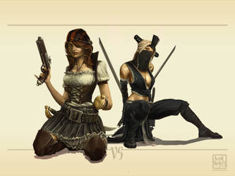 2007June09 Pirates vs Ninja by Autaux