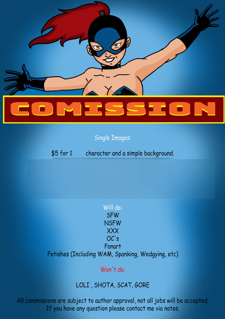 Comic Comissiopns Prices 212