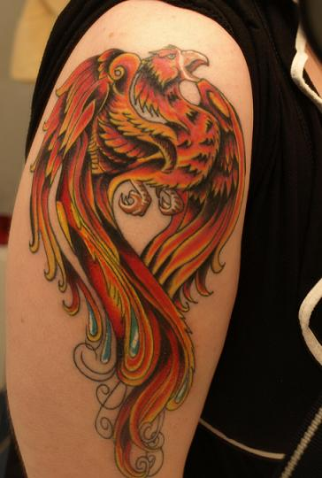 Phoenix tattoo finished by KateBloomfield