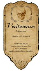 Veritaserum potion label by KateBloomfield