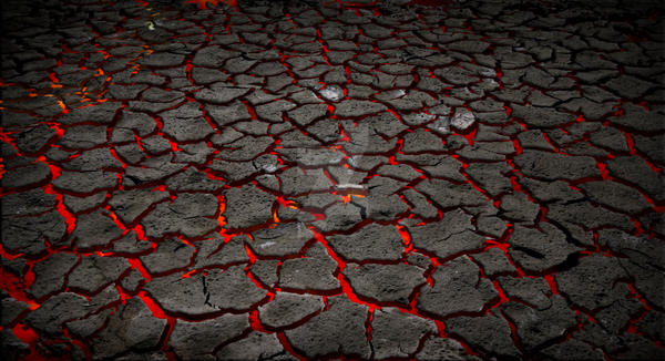 Premade Magma and Cracked Earth Stock by KateBloomfield