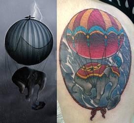 Photomanipulation Converted into Tattoo
