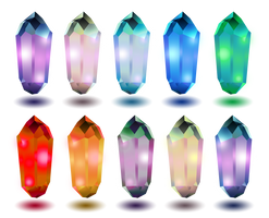 Cute Gems on Transparent background stock