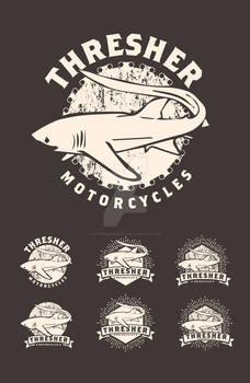 Thresher Motorcycles Logo Mockups