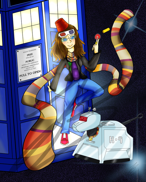 Dr who girl final commission by NishiChan