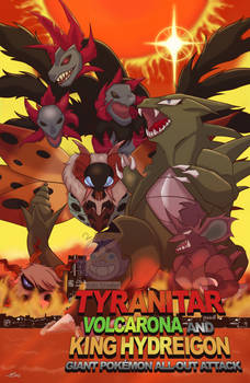 Tyranitarall Out Monster Attack