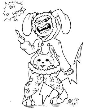 Blackfire Bunny Outfit