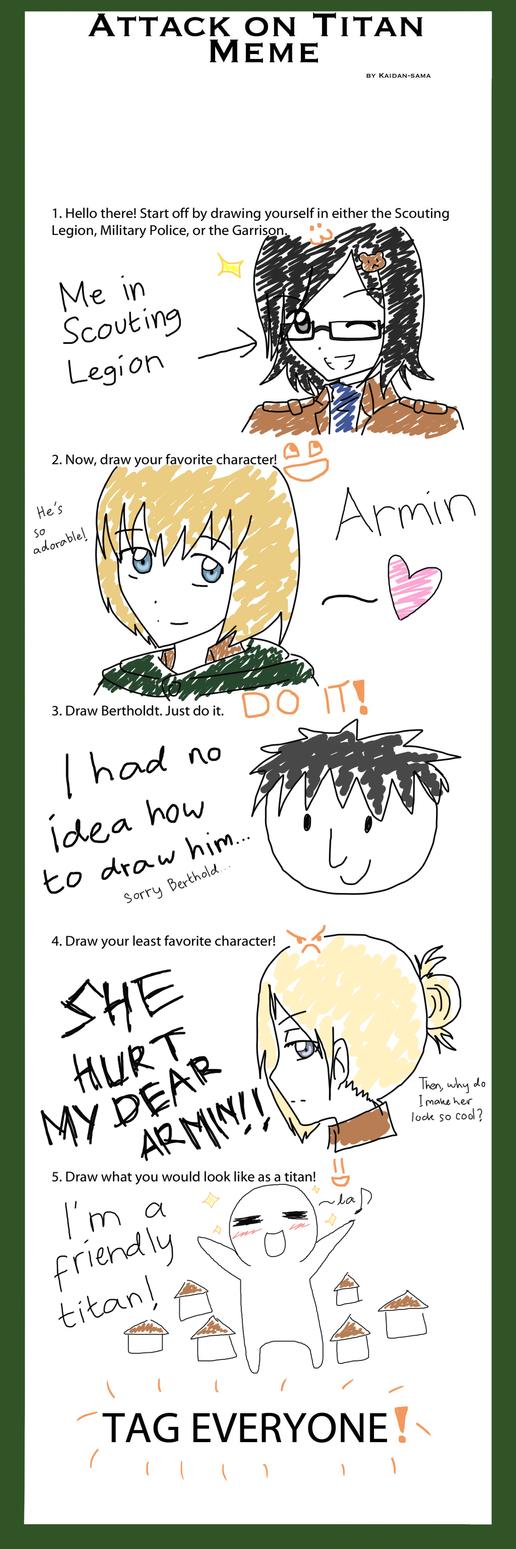 Shingeki no Kyojin Meme by 5862-senbozakura on DeviantArt Y U No Meme Blank