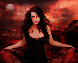 The Red Moon by Le-Regard-des-Elfes