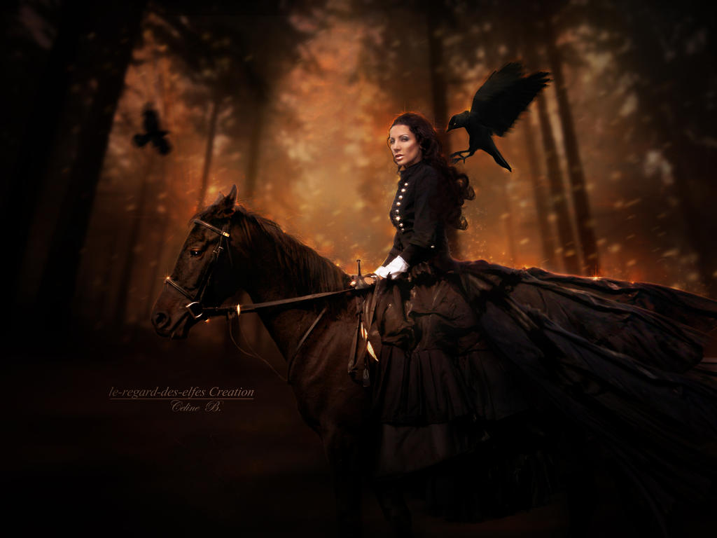 The Horsewoman by Le-Regard-des-Elfes