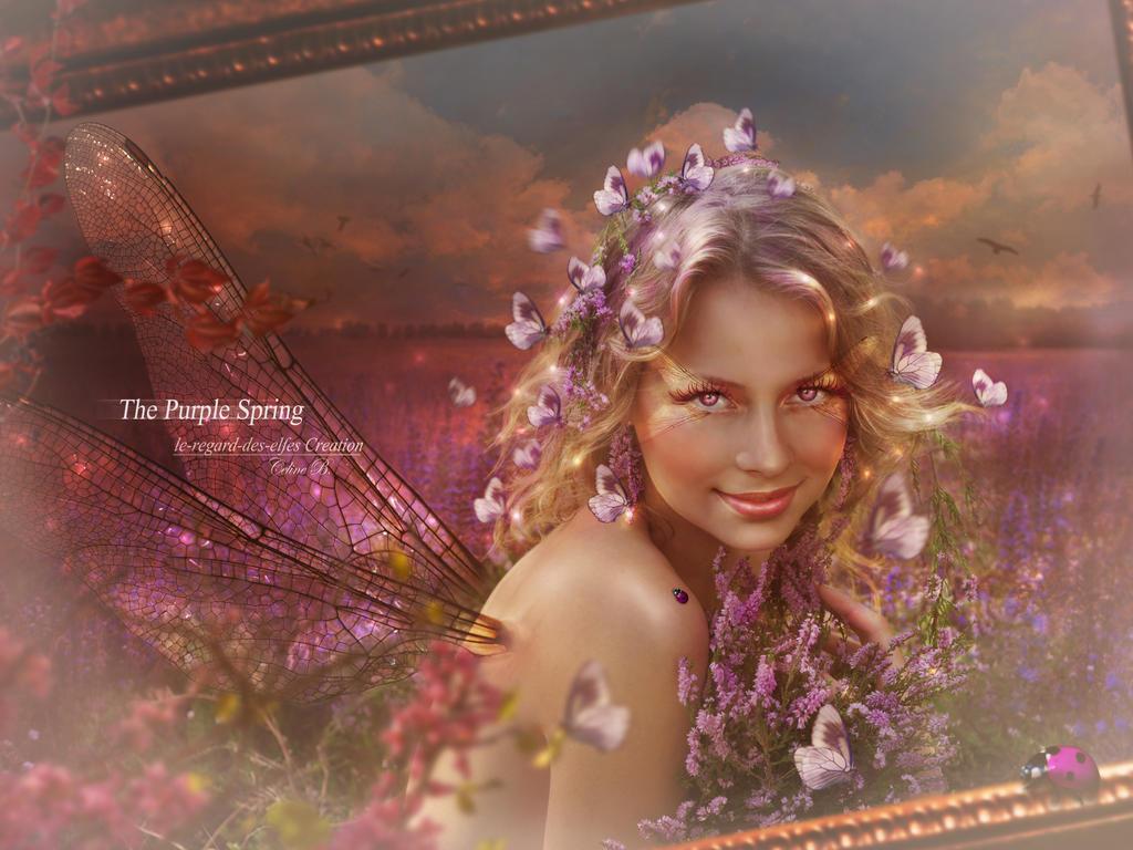 The Purple Spring by Le-Regard-des-Elfes