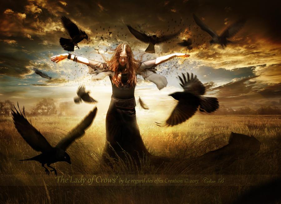 The Lady of Crows by Le-Regard-des-Elfes