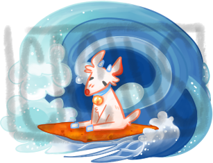 Surfing Goat by Animated123