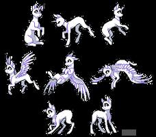 [Base or YHC] Pixel ponies by FuRi9N