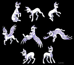 [F2U Base] Pixel ponies