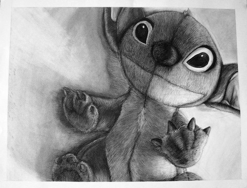 Stitch in Charcoal by Kiriska