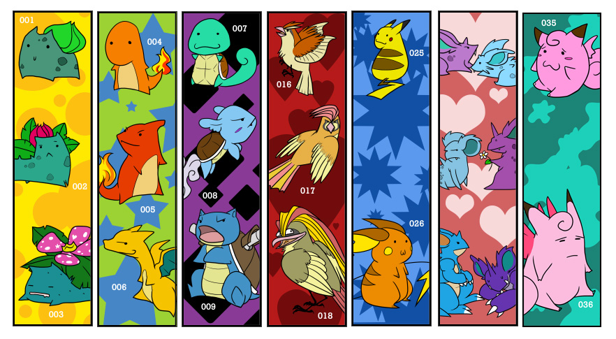 Origami Pokemon Bookmarks