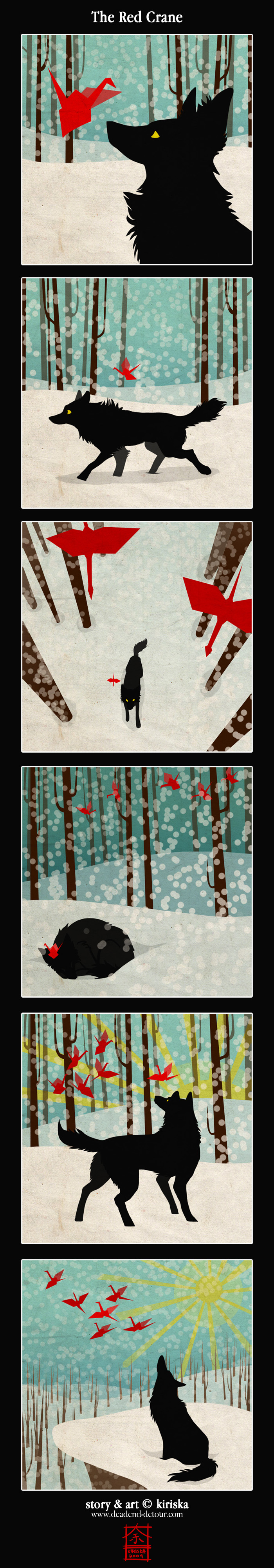 The Red Crane by Kiriska