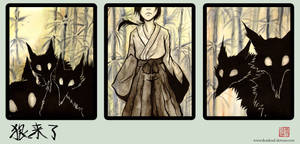 the wolves are here - Triptych by Kiriska