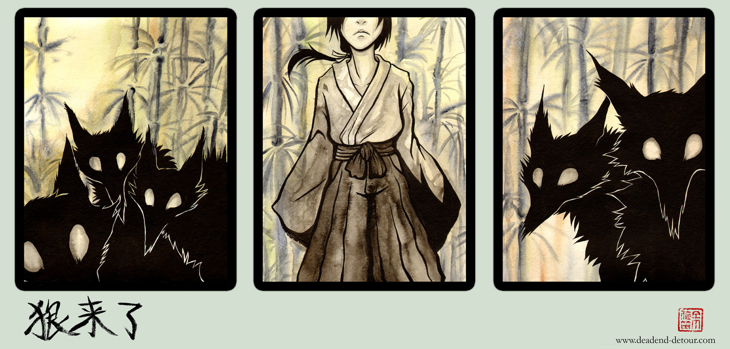 the wolves are here - Triptych