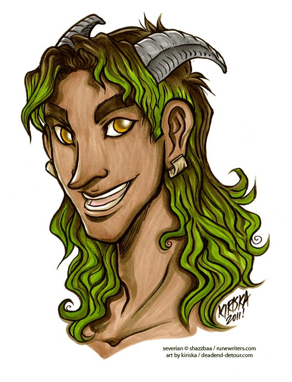 Severian's Floating Head by Kiriska
