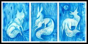 Blue Forest Triptych