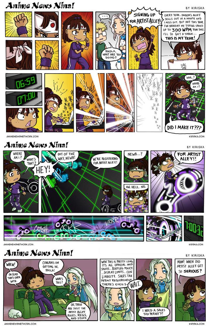 Anime News Nina Guest Strips 1-3 by Kiriska