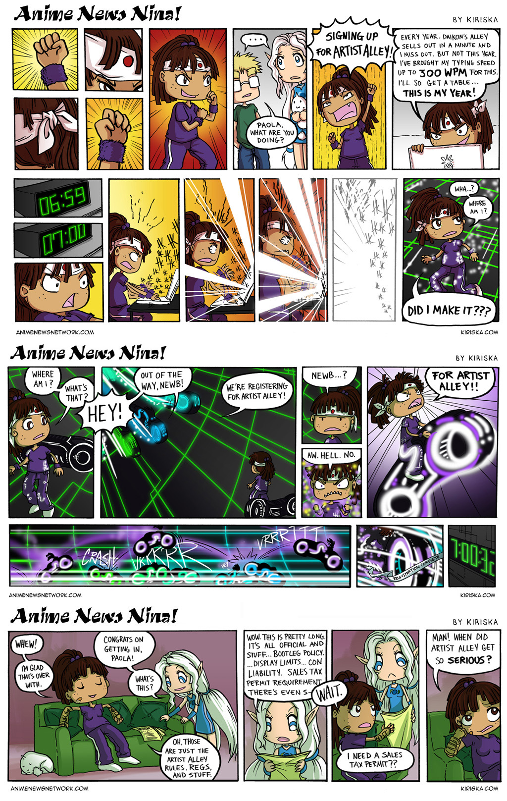 Anime News Nina Guest Strips 1-3 by Kiriska