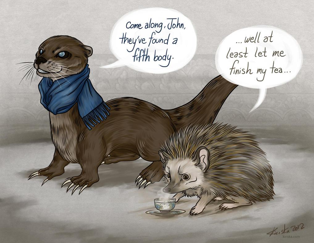 otter and hedgehog
