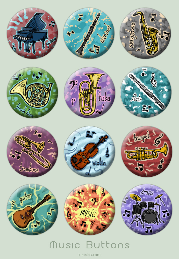 Music Buttons by Kiriska