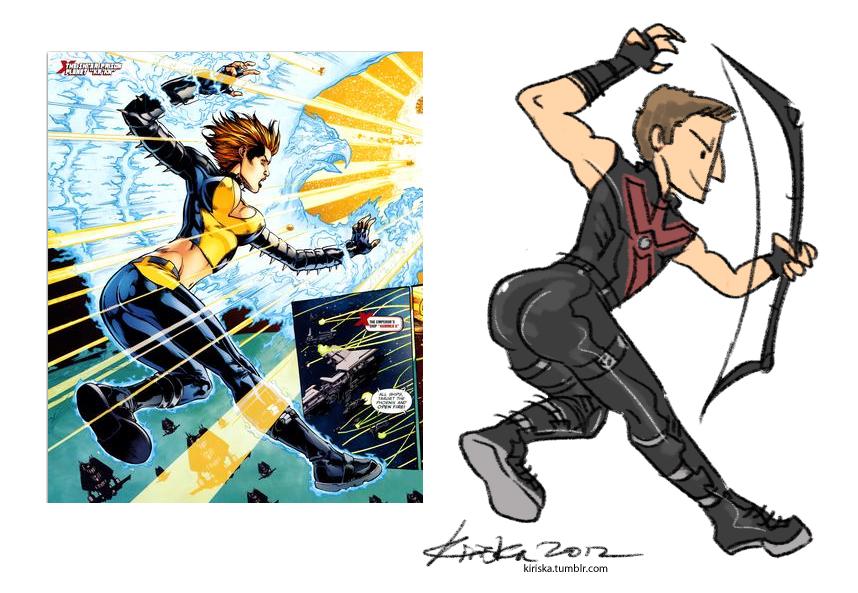 The Hawkeye Initiative by Kiriska