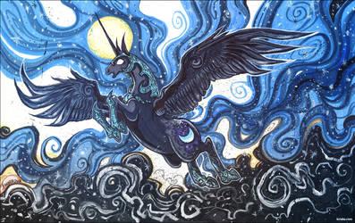 The Moon Rises by Kiriska